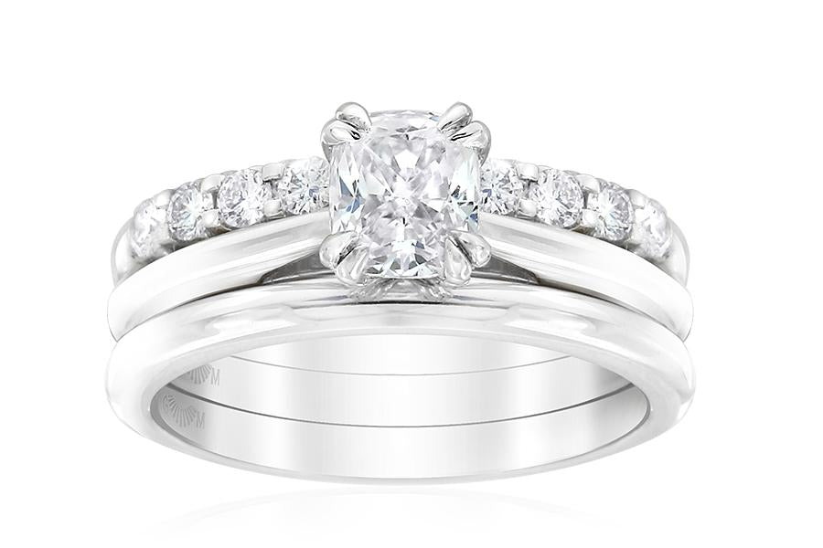Gerard McCabe Classic Slimline Cushion Cut Diamond Ring