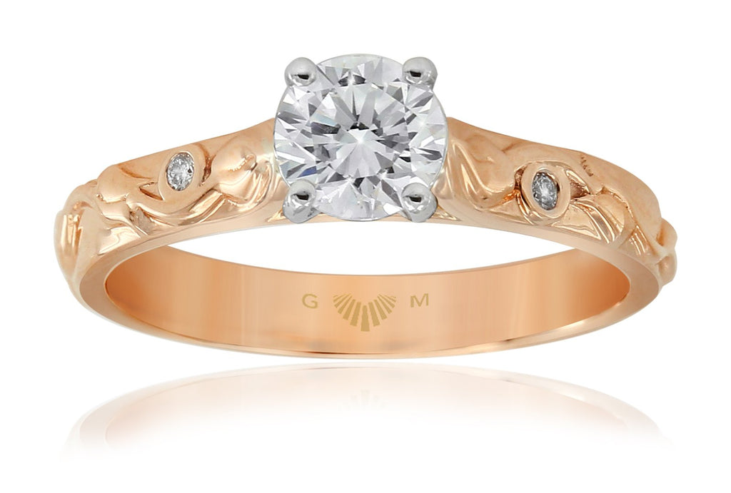 Gerard McCabe Trinity Rose Solitaire Diamond Ring