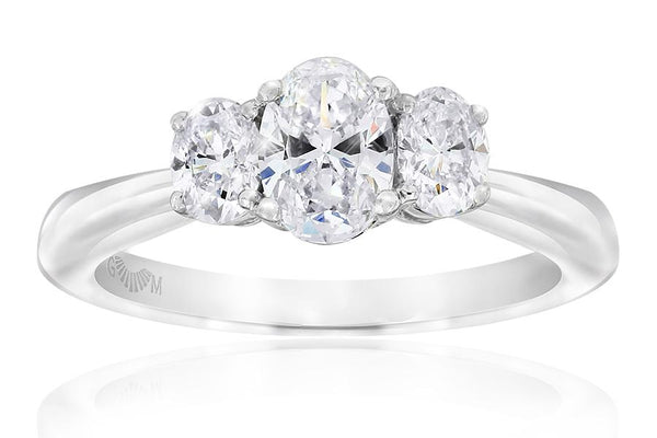 Gerard McCabe Classic Tria Oval Cut Diamond Ring