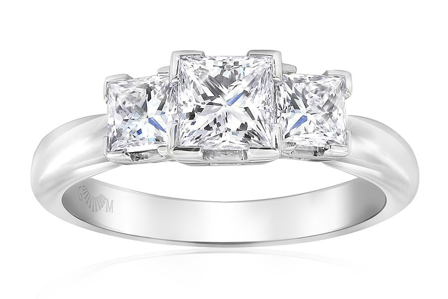 Gerard McCabe Classic Tria Princess Cut Diamond Ring