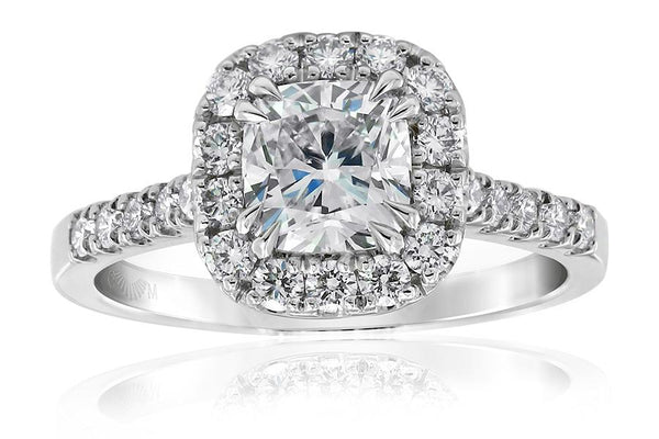 Gerard McCabe Aura Cushion Cut Diamond Ring