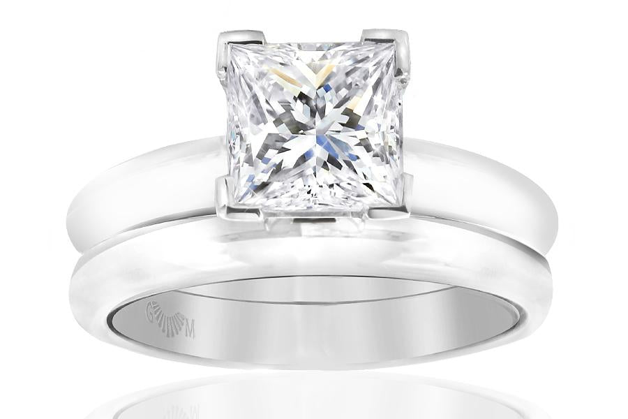 Gerard McCabe Classic Princess Cut Diamond Ring