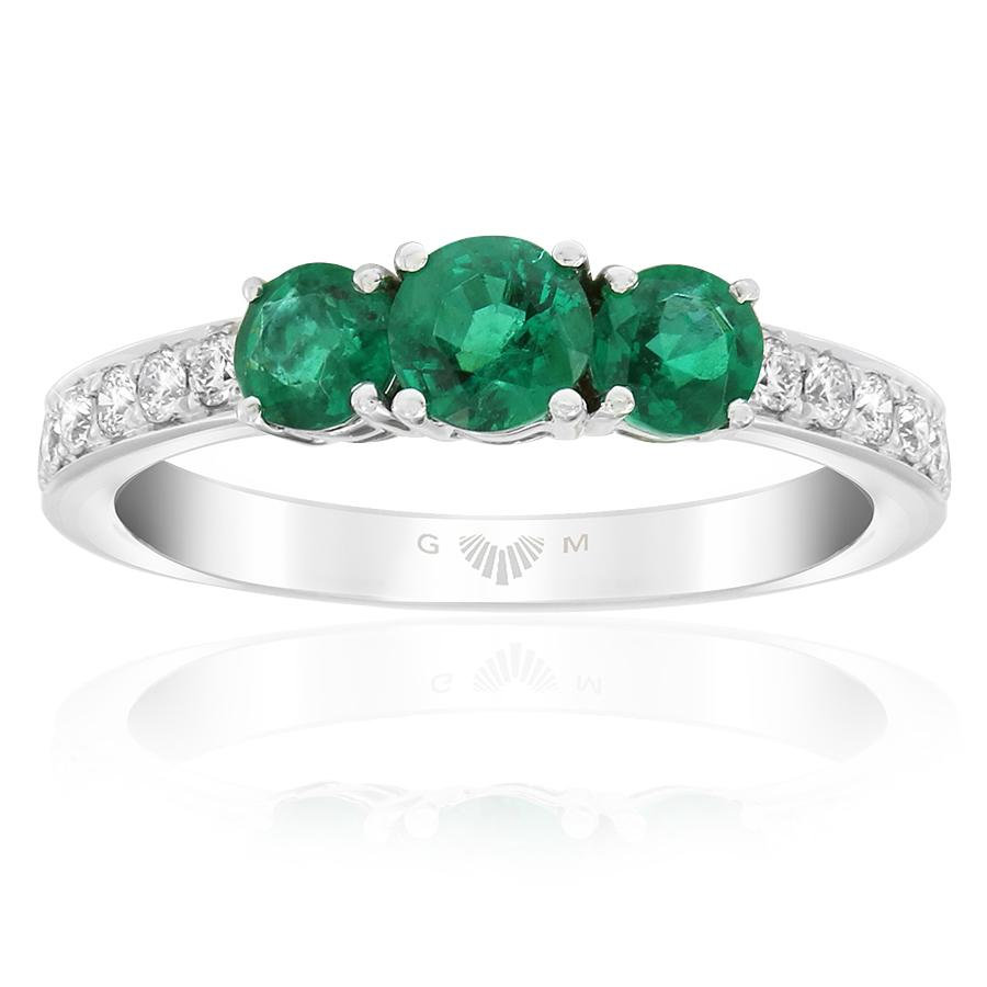 Gerard McCabe Emerald and Diamond Ring