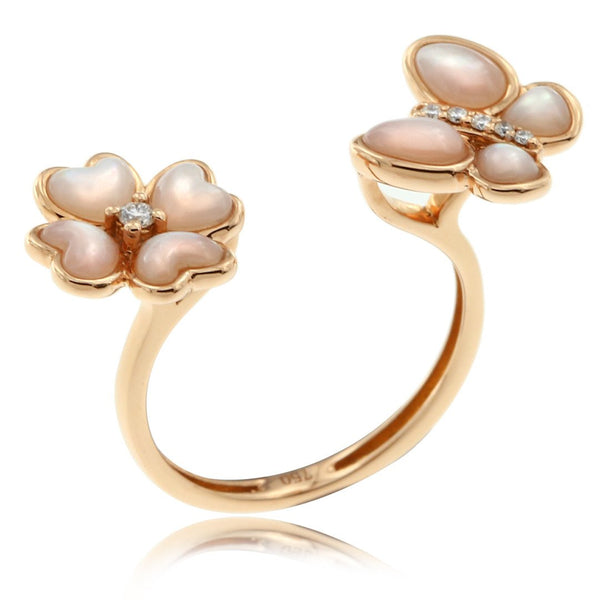 Gerard McCabe Mother Earth Flower and Butterfly Ring
