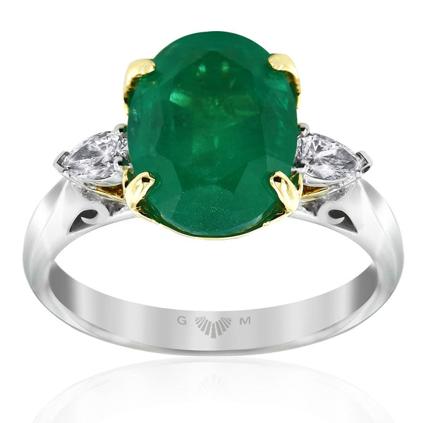 Gerard McCabe Emerald Lyre Ring
