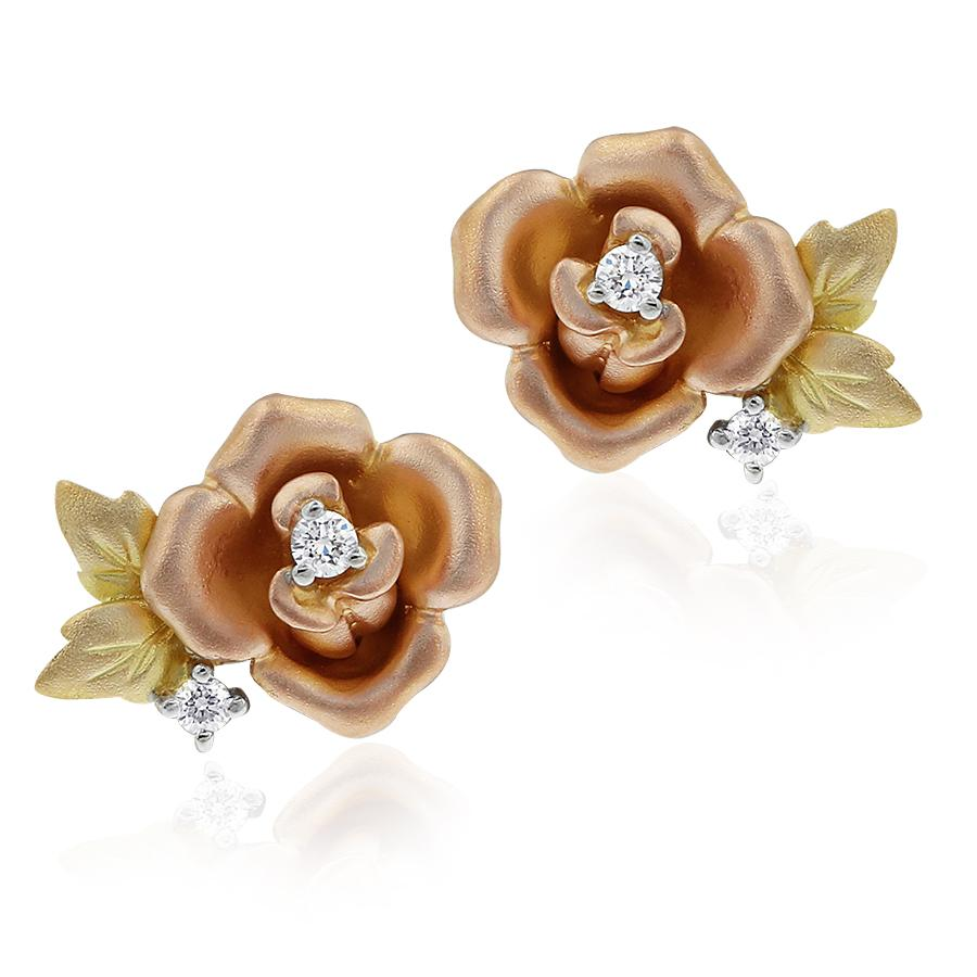 Gerard McCabe Fleur de Lis Rose Earrings