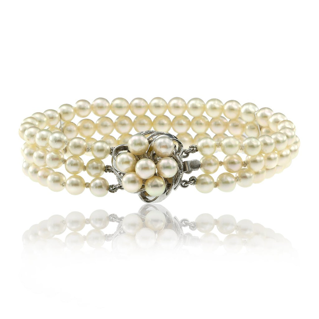 Gerard McCabe Cultured White Pearl Bracelet