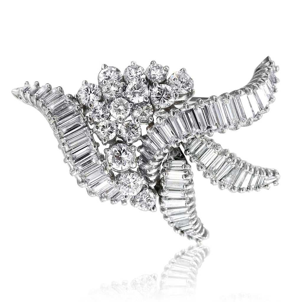 Gerard McCabe Vintage Platinum Diamond Spray Brooch