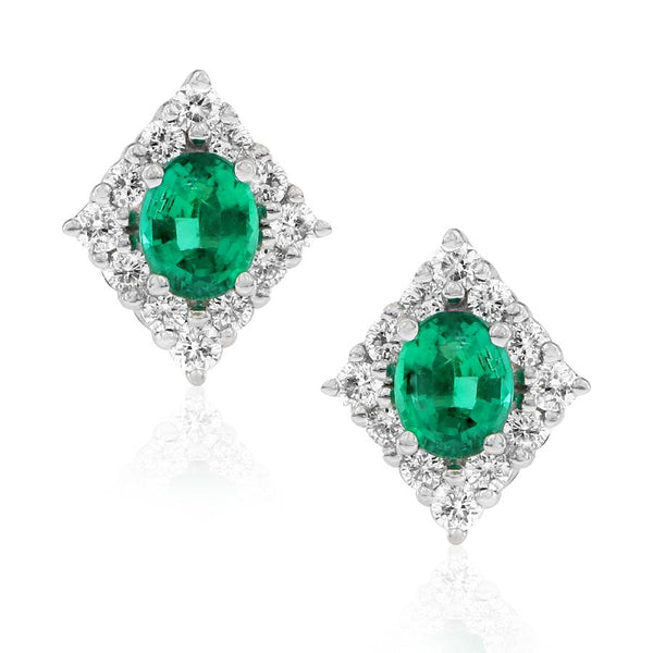 Gerard McCabe Emerald and Diamond Earrings
