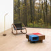 Award winning Wye rocker in a room with the Tangent coffee table