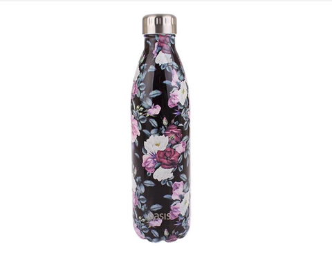 Oasis Insulated Drink Bottle Midnight Floral 500ml