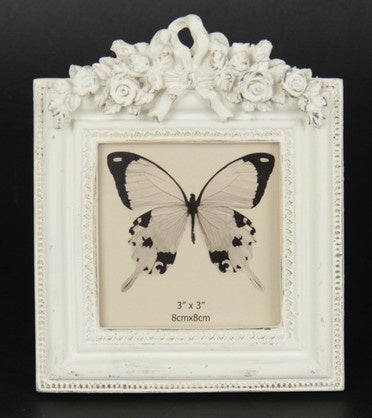 Flowers & Bow Photo Frame