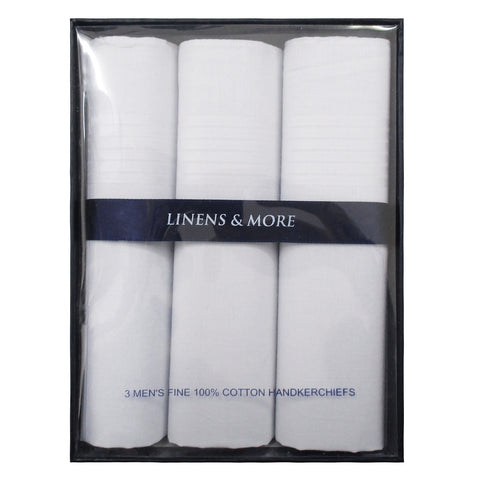 Mens Handkerchief Set - White