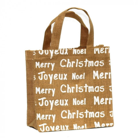Christmas Jute Bag Medium White