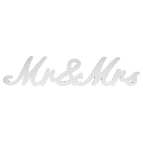 Wedding Mr & Mrs Table Word