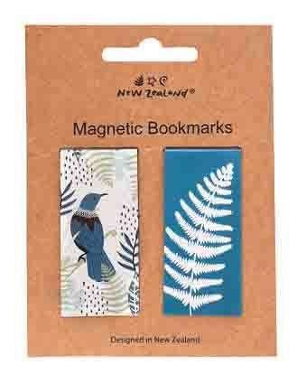 Magnetic Bookmarks NZ Tui & Fern