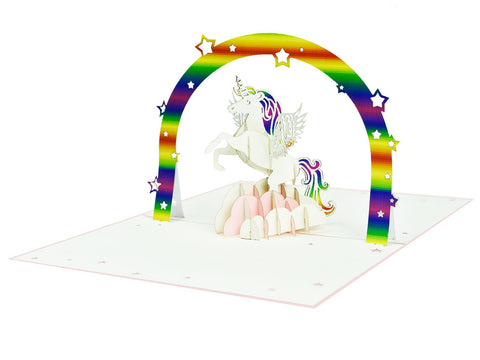 Unicorn Rainbow 3D Creative Pop Up Card