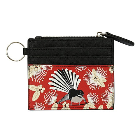 Card Wallet Flirting Fantails Red