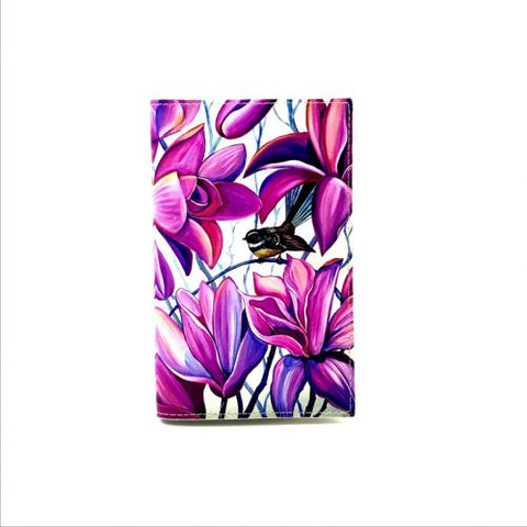 Native Bird Fantail Pink Travel Wallet