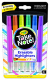 Crayola Take Note! Eraseable Highlighters