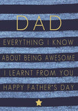 Gift Card: Dad Everything I Know About Being Awesome
