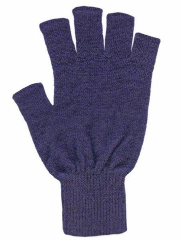 Possum Merino Gloves Fingerless Violet Small