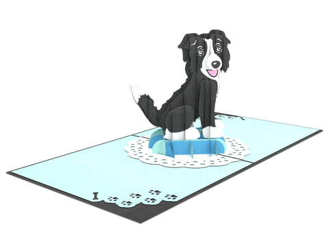 Black Dog 3D Creative Pop Up Card