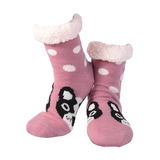 Nuzzles Sherpa Socks - Dotty Dog Blush