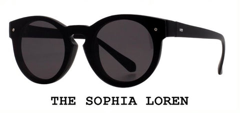 Sophia Loren Black Sunglasses