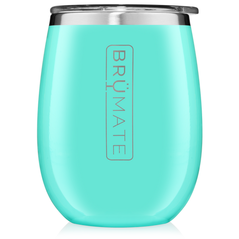 BruMate Wine Glass Aqua