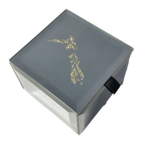 Bling Mini Trinket Box Map Of NZ