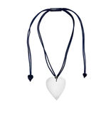 Zsiska Heart Necklace White Small
