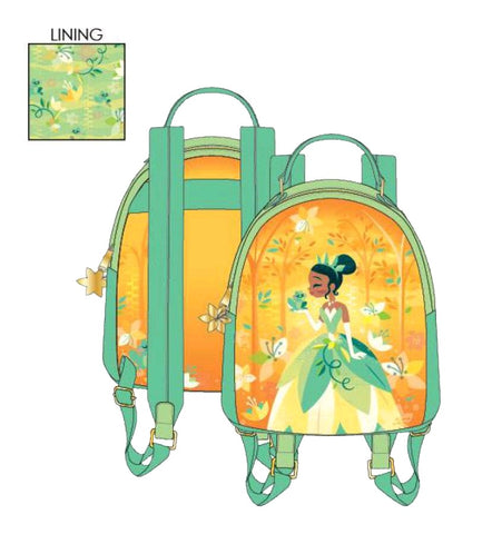 Loungefly - The Princess and the Frog - Tiana Mini Backpack