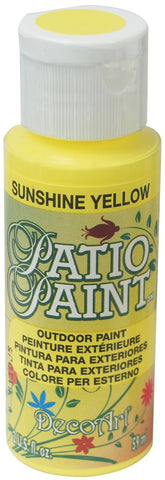 Deco Art Patio Paint 2oz - Sunshine Yellow