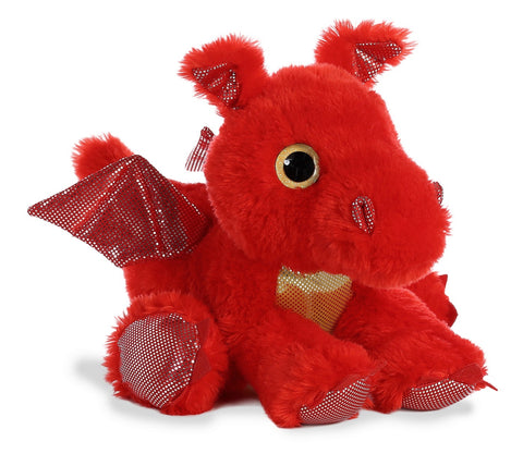 Sizzle Red Dragon Plush