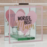 Glass Tealight Holder - World's Best Mum