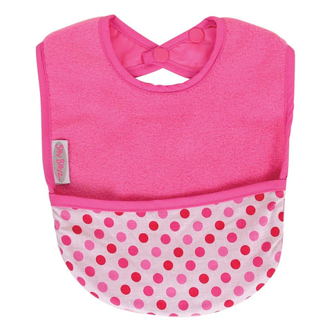 Silly Billyz Fleece Pocket Bib Pink Dots