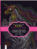 Kaleidoscope Neon Colouring Book Unicorns and More