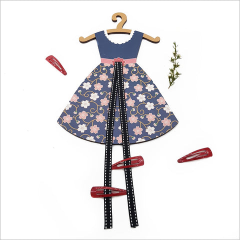 Hairclip Tidy: Cherry Blossom Vintage Dress
