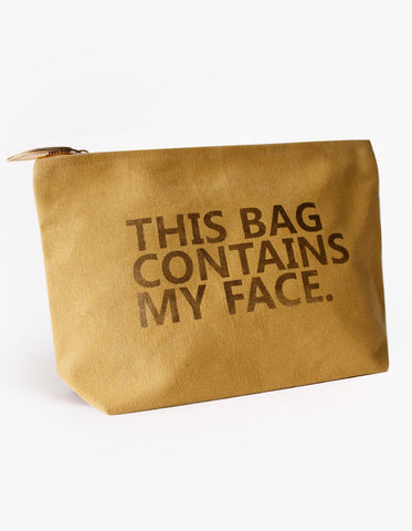 Stella & Gemma: This Bag Contains My Face - Mustard
