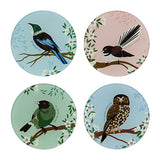 Native Bird Glass Coasters Set