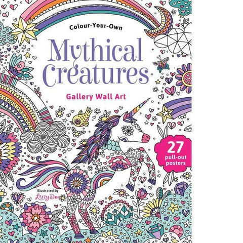 Mythical Creatures Wall Art - Jumbo Colouring Book