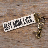 Canvas Keyring - Best Mom Ever