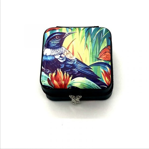 Native Bird Tui & Monarch Travel Jewellery Box