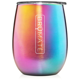 BruMate Wine Glass Rainbow Titanium