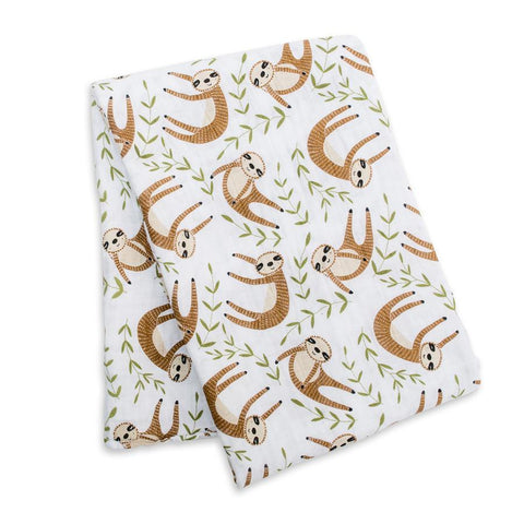Muslin Cotton Swaddle Sloth