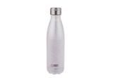 Oasis Shimmer Insulated Drink Bottle Silver 500ml