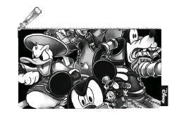Loungefly: Kingdom Hearts - Black & White Pencil Case