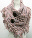 2 Button Blush Scarf