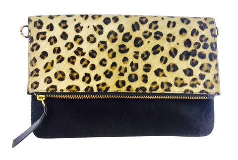 The Cambridge Handbag - Cow Hide & Leopard